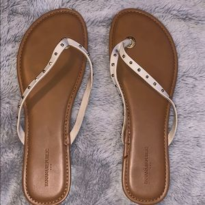 Banana republic white sandals